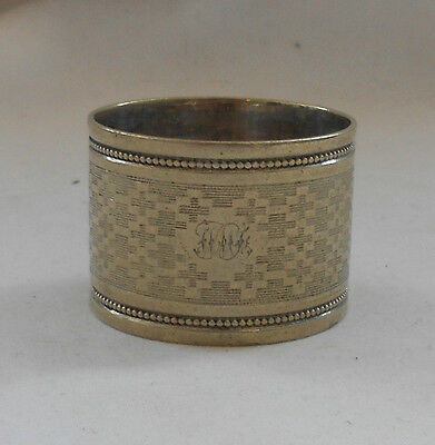 TRADITIONAL Vintage Collectable DECORATIVE SILVER PLATED NAPKIN RING 3cm x 4cm