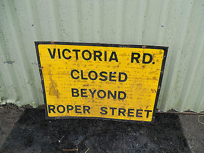 METAL Free STANDING Highway A-BOARD ROADSIGN Road Sign - STREET CLOSED SIGN