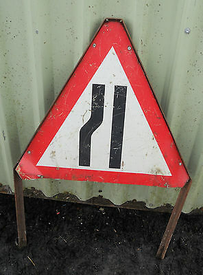 METAL Free STANDING Traffic Highway A-BOARD ROADSIGN Road Sign - ROAD NARROW