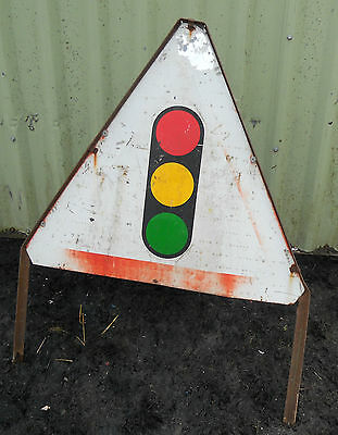 METAL Free STANDING Highway A-BOARD ROADSIGN Road Sign - TRAFFIC LIGHTS
