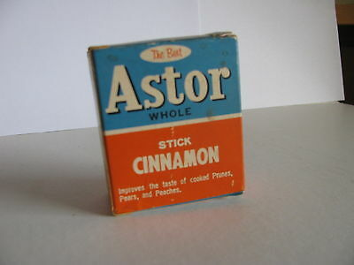 1 Vintage Spice Box :  Astor Stick Cinnamon -- complete with product