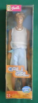 """2003 Barbie Cali Girl """"ken"""" 12"""" Doll With Surf Storyon Back New In Box"""