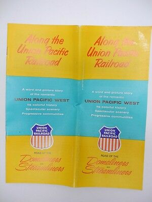 Along the Union Pacific Railroad 1959 Word & Picture Story of the West Pamphlet