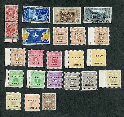 Stamp Lot Of Italy, Mnh And Mh