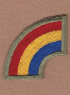 Army Patch: 42nd Infantry Division, cut edge, WWII era