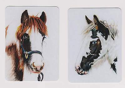 Swap Playing Card 2 cards  Beautiful colored Horses