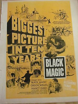 Black Magic, Orson Welles, Full Page Vintage Promotional Ad