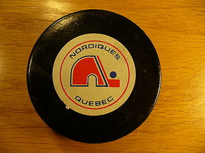 NHL Quebec Nordiques Viceroy Approved Logo Game Hockey Puck Check My Other Pucks