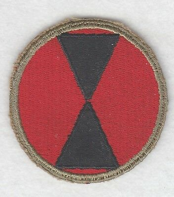 Army Patch:  7th Infantry Division - WWII era