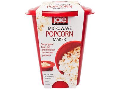 Harold Joie Heat Resistant Silicone Microwave Popcorn Popper Maker, Makes 4 Cups