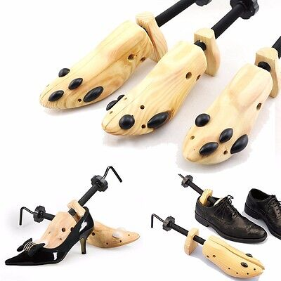 One Pair Wooden Shoe Stretcher Adjustable Size 6-12 For Men Women