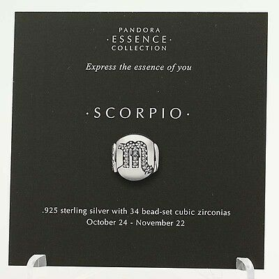 *BEAD NOT INCLUDED* New Pandora Essence Collection Scorpio Zodiac 13 Photo Cards