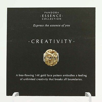 *BEAD NOT INCLUDED* New Pandora Essence Collection Creativity 19 Info Cards