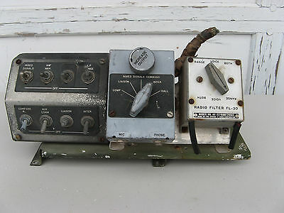 Wwii Aircraft Cockpit Control Module - Military Radio Transmitter Signal Corps