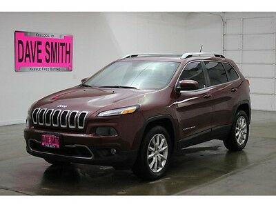 2015 Jeep Cherokee Limited Sport Utility 4-Door 15 Jeep Cherokee Limited Four-Wheel Drive Auto Remote Start Panoramic Sunroof