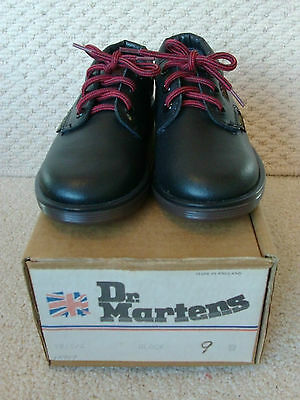 1980s kids infant black leather doc / Dr Martins air wair Made in England size 9