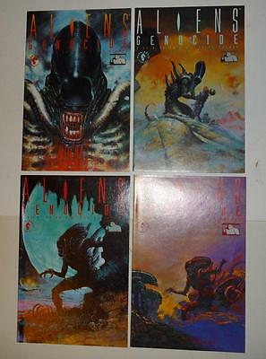 ALIENS - GENOCIDE 1 2 3 4 Full Set 199  NM condition 1st print Dark Horse