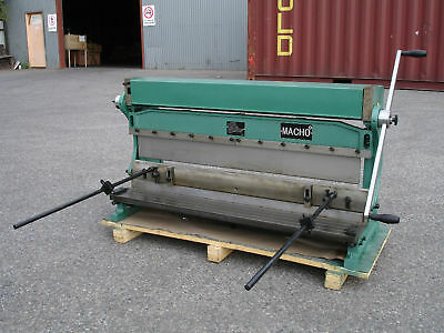 760mm x 1mm 3-In-1 Sheet Metal Shear, PanBrake Folder, Slip Roller & Ring Rolls