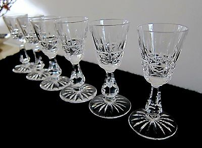 6 WATERFORD KYLEMORE SHERRY SPRIT GLASSES 4 MARKED shot AVAILABLE 12