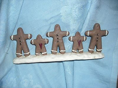 primitive country gingerbread boy man resin Christmas cookie decoration cookie