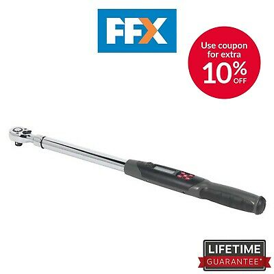"Sealey STW306 1/2"" Square Drive Angle Torque Wrench Digital 20-200Nm"