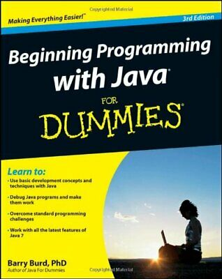 Beginning Programming with Java For Dummies by Burd, Barry Book The Cheap Fast