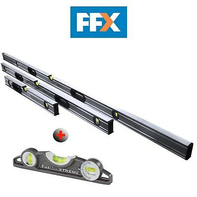 Stanley STALEVELPK 4 Piece Xtreme Box Beam Spirit Level Pack