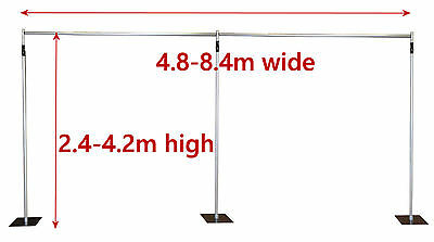 4.2x8.4m Pipe and Drape support system adjustable backdrop photography stand