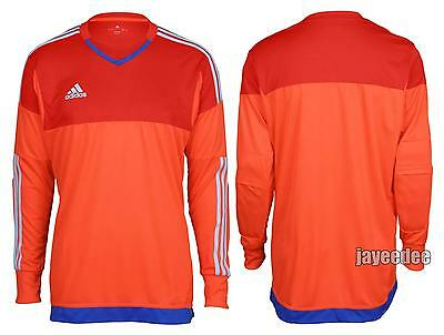 $65 Adidas Adizero Top 15 Padded Goalkeeper Soccer Jersey S29441 Red/scarlet L