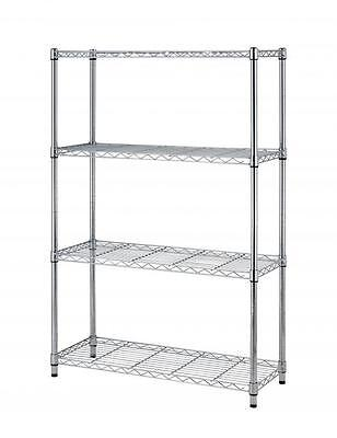 "Chrome 36""x14""x54"" Wire Metal Shelving Rack 4 Tier Layer Adjustable Shelf T54"