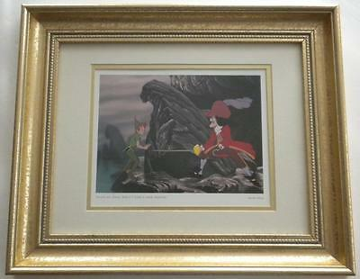 Walt Disney Official PETER PAN Deluxe Framed CAPTAIN HOOK Litho Print