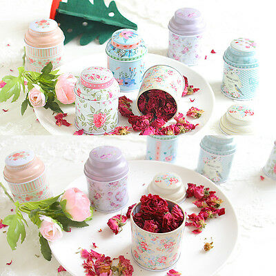 HOT Universal Flower Candy Coffee Tea Sealed Can Container Jar Tin Box Metal