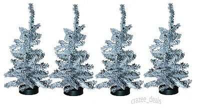 Lot Of 8 Canadian Pine 1 Foot Artificial Pine Christmas Trees Tabletop White