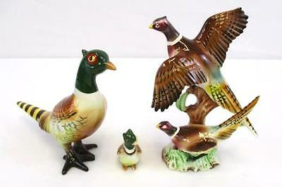 Lot of 3 Vintage Pheasant Figurines Statue Collectible Bird Japan