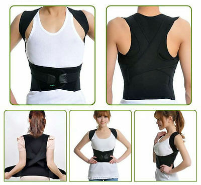 Women/Men Adjust Shoulder Back Chest Brace Support Belt Posture Corrector Vest