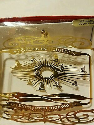 Geese Enchanted Highway Regent North Dakota 24k gold finish Brass Ornament