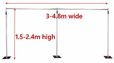 2.4m high 4.8m wide - Aluminium Pipe and Drape system / Drape Support system