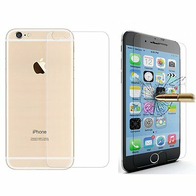 Premium Front and Back Tempered Glass Film Screen Protector For iPhone 6 6S Plus
