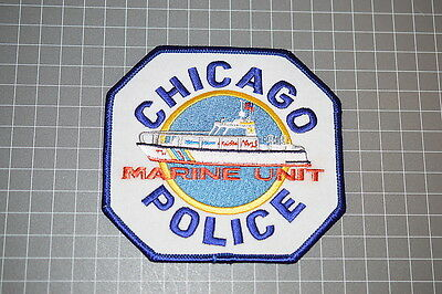 Chicago Illinois Police Marine Unit Patch (B9)