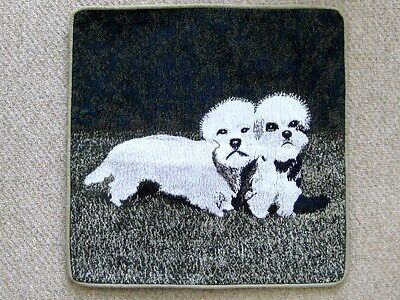 Dandie Dinmont Tapastry-Style Pillow Cover Throw Plain Back Zipped Price Cut !!!