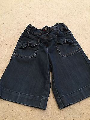 Girls Next Cropped Navy Jeans Trousers Age 3-4 Years