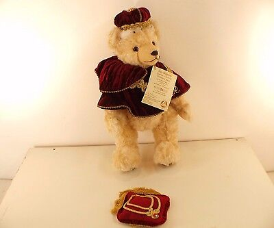 Hermann ours Bear Her Majesty Queen's 2006 nounours peluche 42 cm neuf 80 pieces