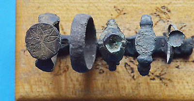 Ancient  Rings lot - Viking Period rings with drawing