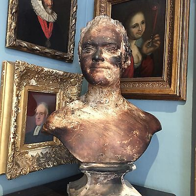 Antique 19th Century Portrait Bust Henry Gwyther Vicar Of Yardley By Enoch Wood
