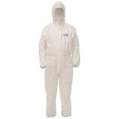 2 Kleenguard A40 Liquid & Particle Disposable Coveralls Overalls Hooded White XL
