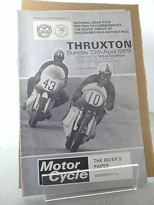 Thruxton National Road Races Motor Cycle Race Programme  13th April 1969