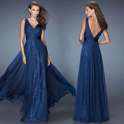 Sexy Womens Long Evening Party Ball Prom Gown Formal Bridesmaid's Cocktail Dress