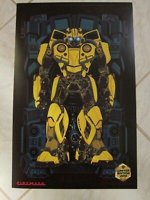 BUMBLEBEE 2018 Cinemark XD Original Promo Mini Movie Poster Transformers