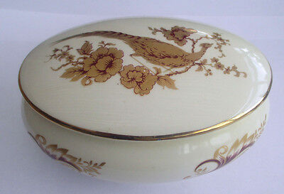 Royal Worcester-Palissy-Oval Trinket Pot And Cover