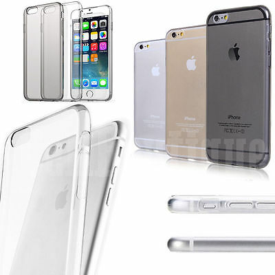 Cellboutique Silicone Clear Transparent gel case for Apple iPhone 6S + Film